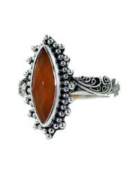 Lori Bonn | Orange Bonn Bon Jewelry Sterling Silver Carnelian Secret Lair Cocktail Ring | Lyst