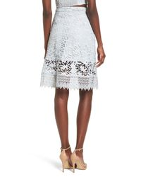 Leith - White Lace Pretty Skirt - Lyst