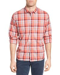 Grayers | Red Sandover Plaid Poplin Sport Shirt for Men | Lyst