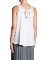 Bobeau - White Knit Tie Back Tank - Lyst
