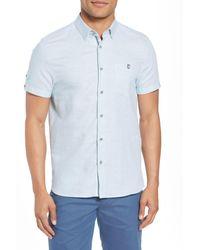 Ted Baker - Blue Slim Fit Sport Shirt for Men - Lyst