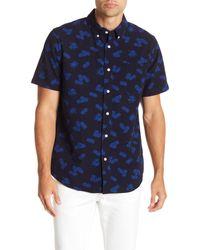 Joe Fresh - Blue Short Sleeve Pineapple Print Standard Fit Shirt for Men - Lyst