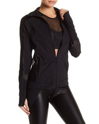 Trina Turk - Black Shine On Track Jacket - Lyst