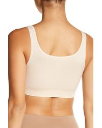 Yummie By Heather Thomson - Natural Padded Scoop Neck Bra - Lyst