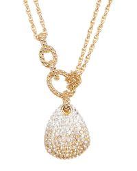 Swarovski - Metallic Crystal Pave Pendant Layered Necklace - Lyst