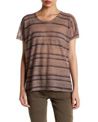 Inhabit - Multicolor Sheer Knit Tee - Lyst
