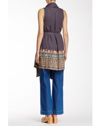 Johnny Was | Blue Embroidered Linen Vest | Lyst