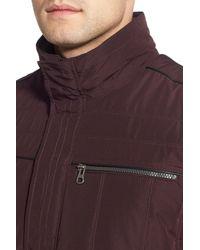 Bugatchi - Purple Biker Jacket for Men - Lyst