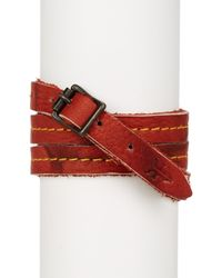 Frye | Red Campus Wrap Leather Cuff | Lyst