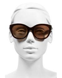 MCM - Brown 56mm Retro Sunglasses - Havana - Lyst