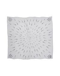 Rag & Bone - Gray Dagger Print Silk Scarf - Lyst