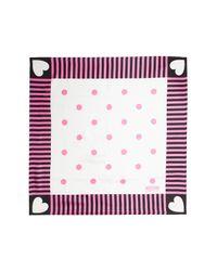Moschino - Multicolor Foulard Silk Printed Scarf - Lyst
