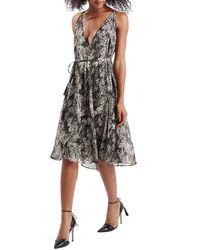 TOPSHOP | Black Bird Print Dress By Yuki** | Lyst