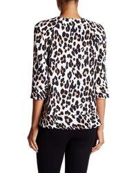 Nanette Lepore - Black Leopard Blouse - Lyst