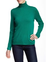 In Cashmere | Green Turtleneck Cashmere Sweater | Lyst