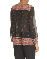 Joie Multicolor Haya Printed Silk Blouse