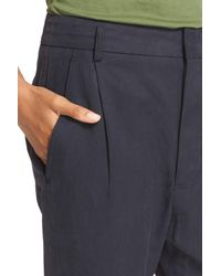 Vince - Blue Slouchy Slim Ankle Trousers - Lyst
