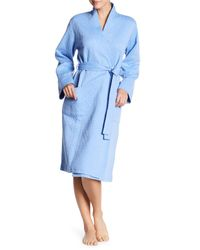 Natori - Blue Quilted Robe - Lyst