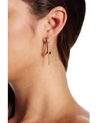 Rebecca Minkoff - Multicolor Two-tone Front & Back Drop Earrings - Lyst