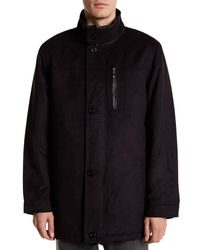 Bugatchi - Black Long Sleeve Button Collar Jacket for Men - Lyst
