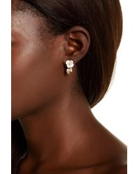 Betsey Johnson | Brown Bee Ear Cuff & Flower Stud Earrings | Lyst
