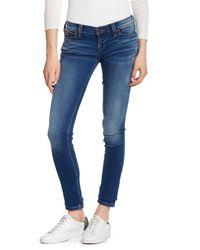 True Religion - Blue Stella Low Rise Skinny Jeans - Lyst