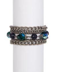 Sorrelli   Metallic Emerald City Multi-strand Crystal Bead Bracelet   Lyst