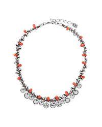 Uno De 50 - Metallic A Fuego Beaded Fringe Leather Necklace - Lyst