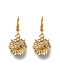 Vince Camuto - Metallic Star Charm Museum Hoop Earrings - Lyst