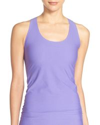 Spanx - Purple Perforated Racerback Tank Top - Lyst