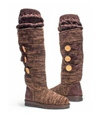 Muk Luks - Brown Caris Marled Knit Boot - Lyst