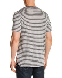 Levi's - Gray Luke Short Sleeve Striped Tee for Men - Lyst