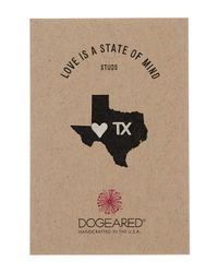 Dogeared - Metallic Sterling Silver Love Is A State Of Mind Stud Earrings - Texas - Lyst