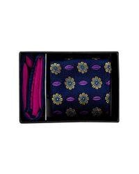Ted Baker | Blue Olivia Botanical Silk Tie & Pocket Square Set for Men | Lyst