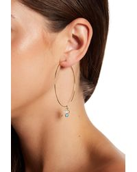 Nadri - Metallic Fizzy Threader Hoop Earrings - Lyst
