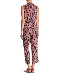 Trina Turk - Red Berta Floral Silk Pant - Lyst