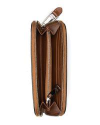 Moschino - Brown Leather Zip Around Wallet - Lyst