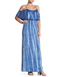 Green Dragon - Blue Cold Shoulder Maxi Dress - Lyst