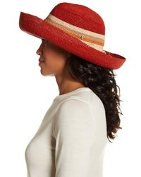 e5abb4c181c7e Lyst - Helen Kaminski Provence Colorblock Woven Floppy Hat