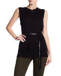 Max Mara - Black Bora Sleeveless Knit Sweater Top - Lyst