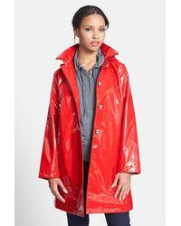 Jane Post - Red 'princess' Rain Slicker With Detachable Hood - Lyst