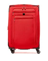 "Delsey | Red 29"" Helium Sky 2.0 Expandable Spinner Trolley 