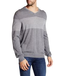 Calvin Klein | Gray Colorblock Sweater for Men | Lyst