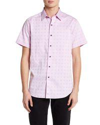Robert Graham - Pink Faribault Short Sleeve Woven Classic Fit Shirt for Men - Lyst