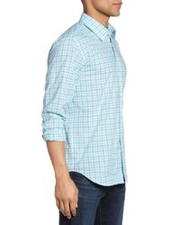 Jeremy Argyle Nyc - Blue Comfort Fit Plaid Sport Shirt for Men - Lyst