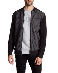 Calvin Klein Jeans | Black Bonded Knit Zip Jacket for Men | Lyst