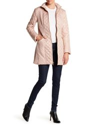 Via Spiga - Multicolor Mixed Quilted Full Zip Coat - Lyst