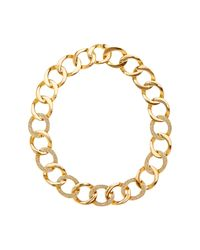 House of Harlow 1960 - Metallic Ra Engraved Crystal Detail Chain Necklace - Lyst