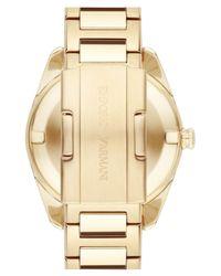 Emporio Armani - Metallic Crystal Index Bracelet Watch - Lyst