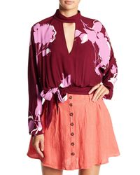 Free People - Red Say You Love Me Blouse - Lyst
